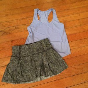 Lululemon Bundle skort shorts and tank top